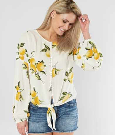 Daytrip Lemon Print Top