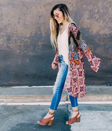 Willow & Root Medallion Chevron Kimono