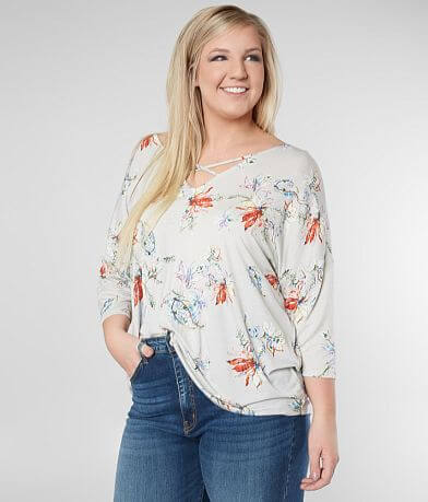 Daytrip Floral Strappy Top - Plus Size Only