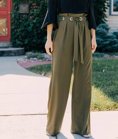 Willow & Root Wide Leg Paperbag Pant