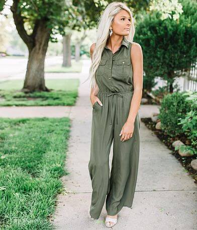 BeBop Solid Wide Leg Jumpsuit