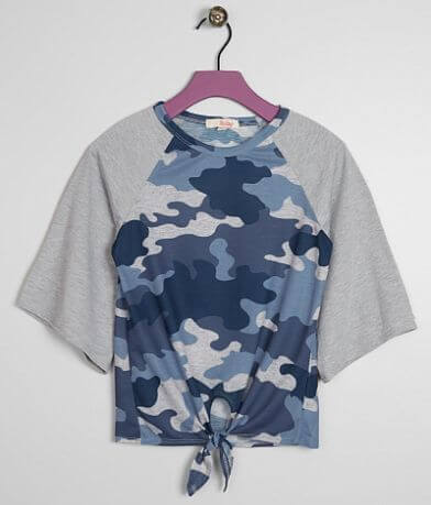 Girls - BeBop Camo Front Tie Top