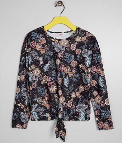 Girls - Daytrip Floral Polka Dot Top