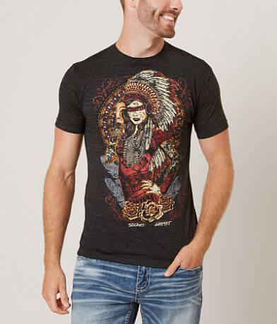 Secret Artist Indian Headdress T-Shirt