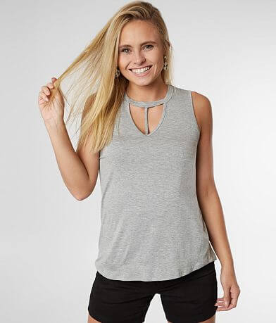 BKE Strappy Cut-Out Tank Top