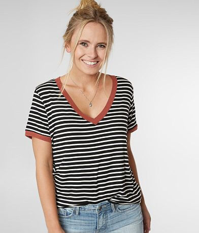 BKE Striped Boxy T-Shirt