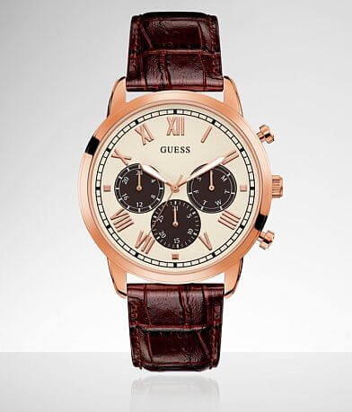 Guess Hendrix Leather Watch