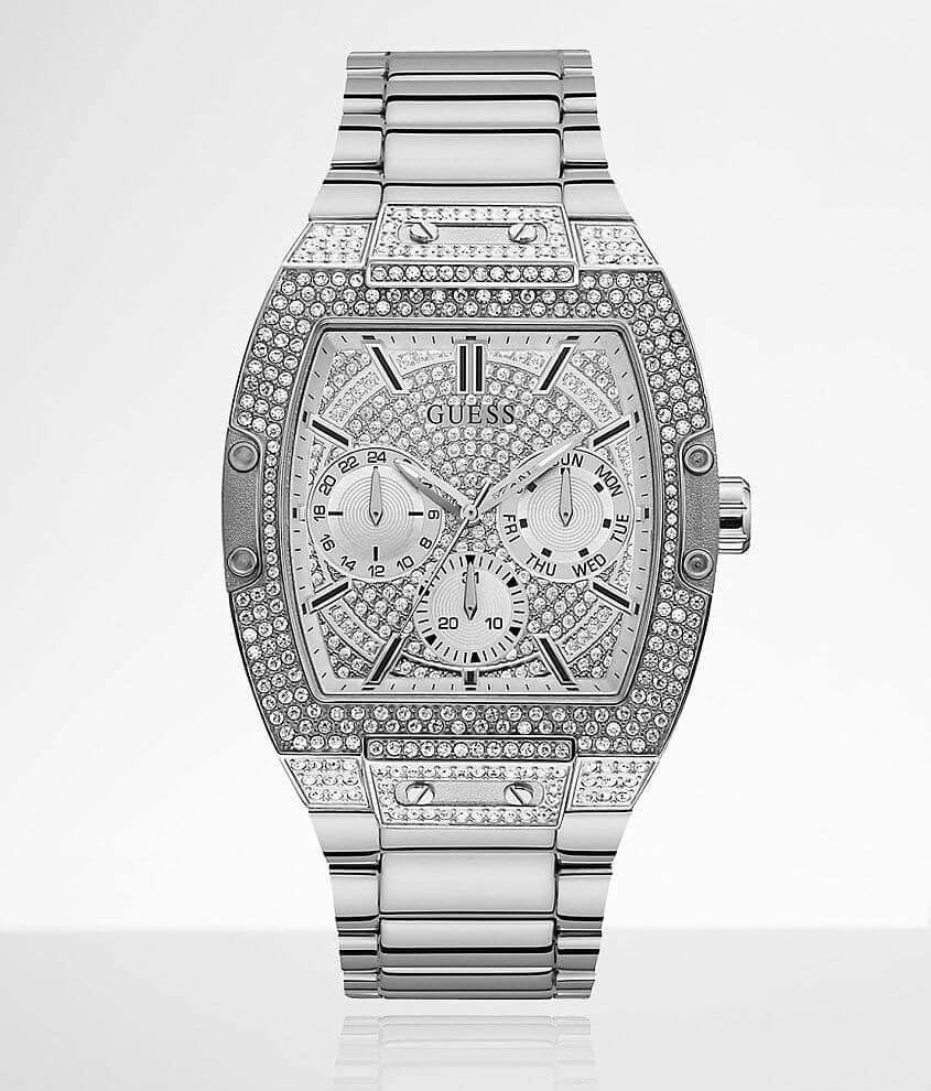 Guess Phoenix Swarovski® Crystal Watch - Men's Watches in Silver ...