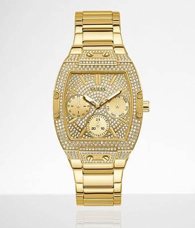 Guess Gold Tone Glitz Watch