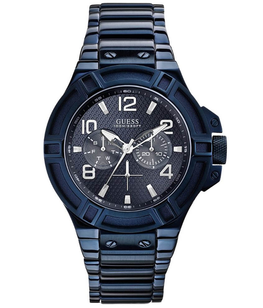 Guess Blue Dial Watch front view