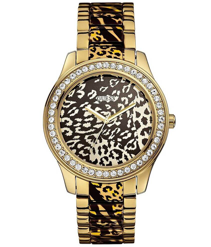 Guess Leopard Watch front view