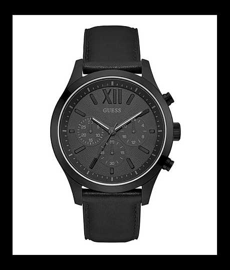 watches for men guess buckle guess black smith watch