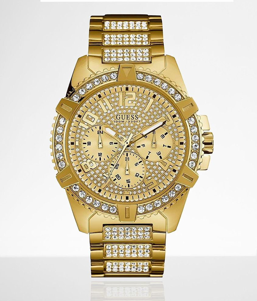 Guess Crystal Watch - Men s Watches in Gold  710c21784ec