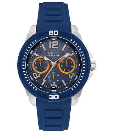 Guess Blue Text Watch
