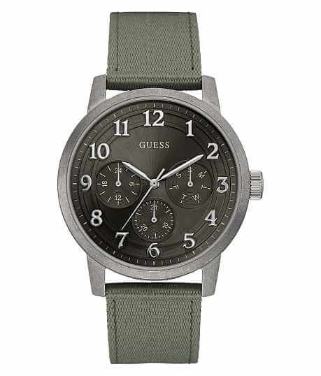 watches for men guess buckle guess olive watch