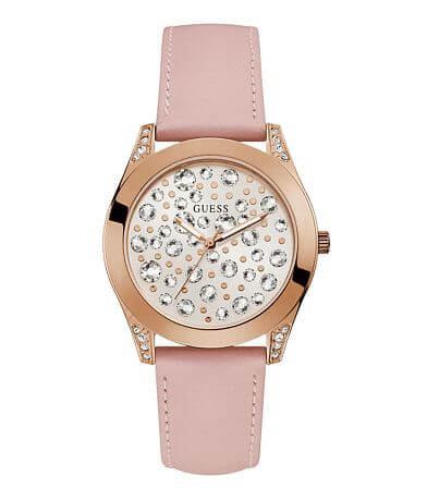 Guess Statement Leather Watch