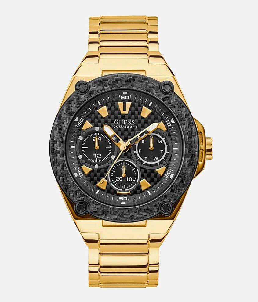 Guess Legacy Gold Watch front view
