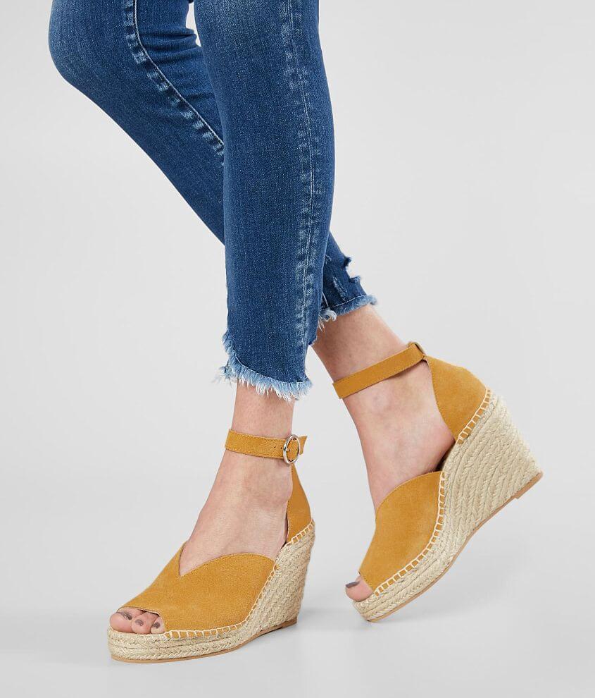 Suede espadrille sandal Adjustable ankle strap 4\\\