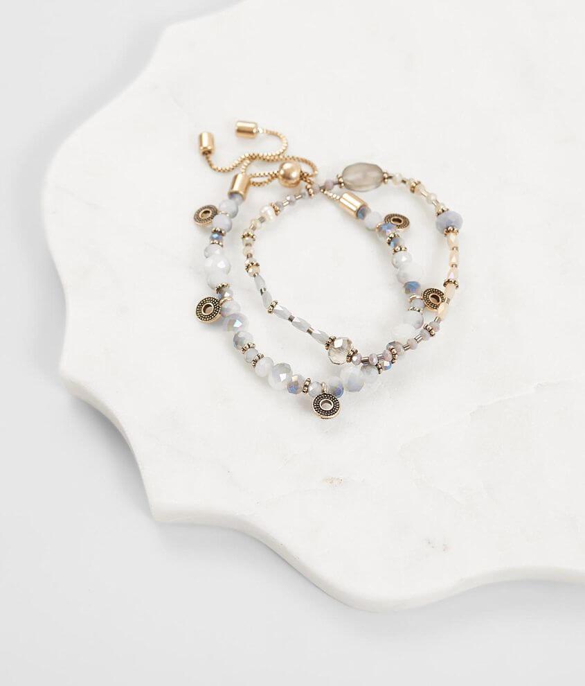 Set of two bracelets Stretch bracelet measures 2 1/2\\\