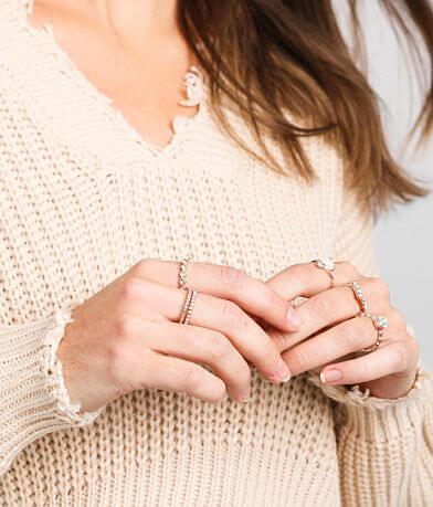 BKE Glitz Stone Ring Set