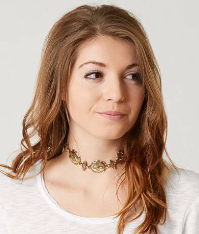 BKE Metal Choker Necklace