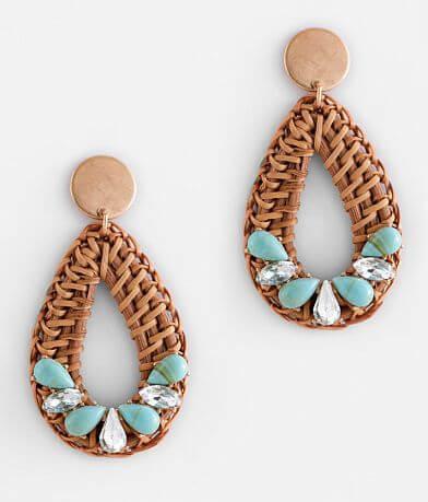 BKE Turquoise Glitz Raffia Earring