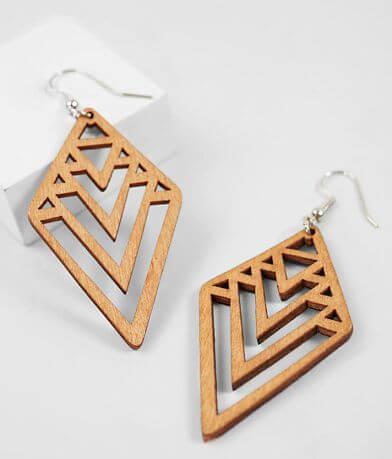 BKE Geometric Cut-Out Earring
