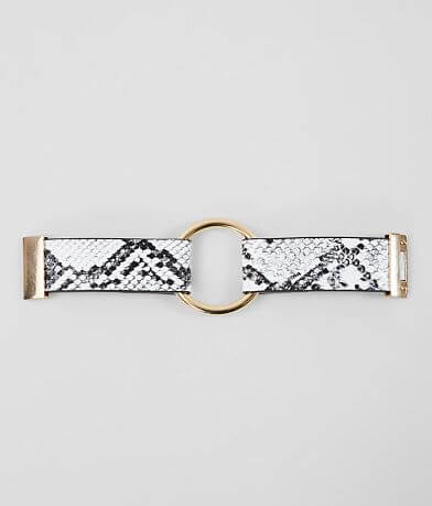 BKE Faux Snake Printed Bracelet