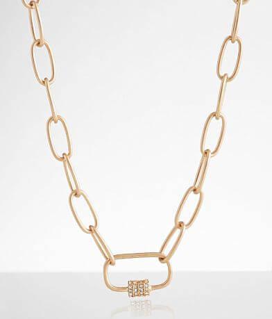 BKE Paperclip Glitz Necklace