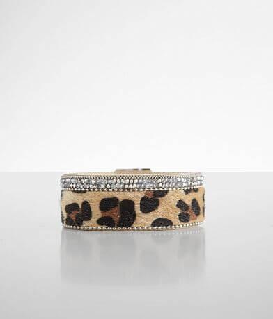 BKE Leopard Glitz Bracelet