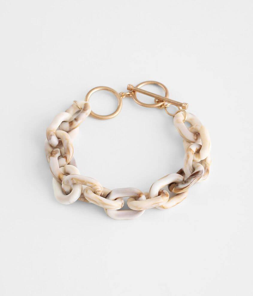 BKE Resin Chain Bracelet front view