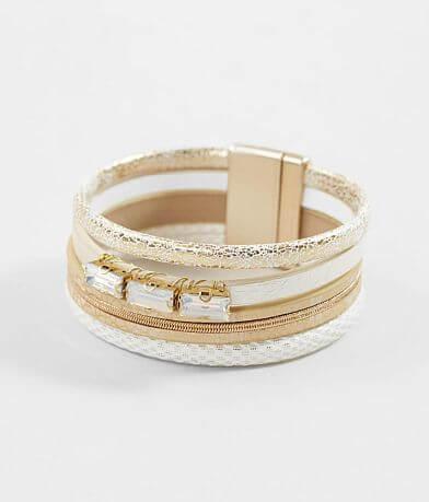 BKE Stone & Chain Bracelet