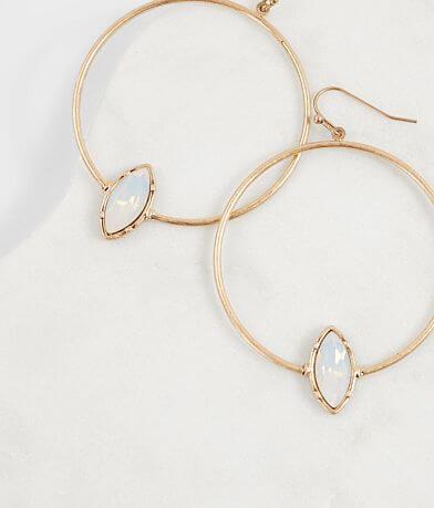 BKE Stone Hoop Earring