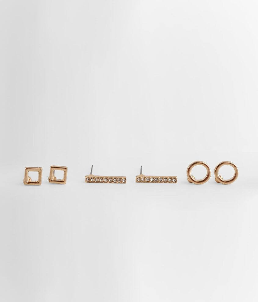 BKE Geometric Earring Set front view