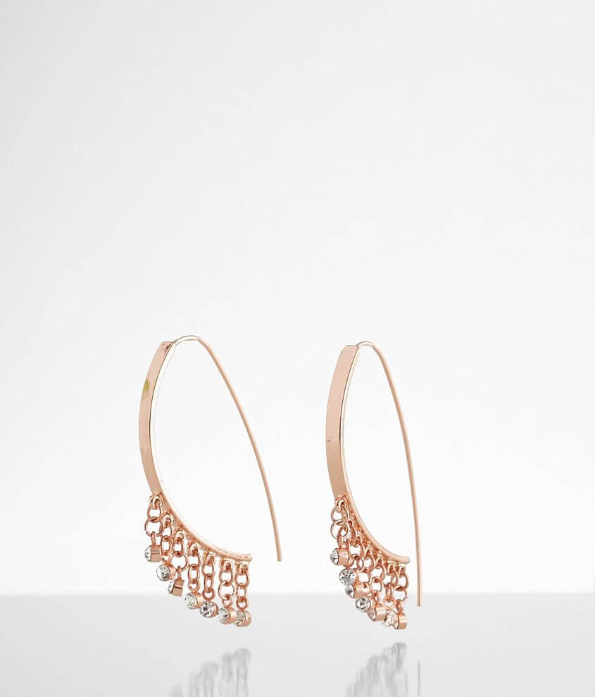BKE Pull Through Glitz Earring front view