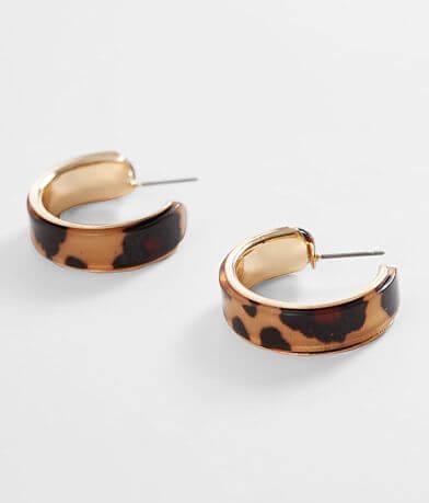 BKE Tort Hoop Earring