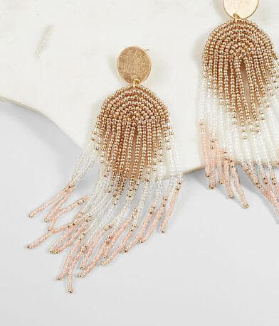 BKE Beaded Fringe Earring