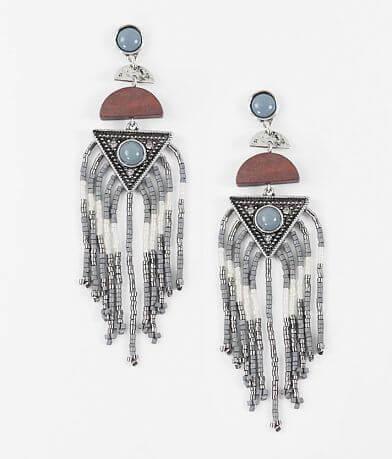 BKE Bead Fringe Earring