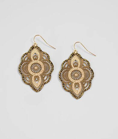 BKE Wrapped Filigree Earring