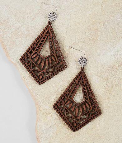 BKE Wood Drop Earring
