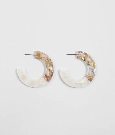 BKE Resin Hoop Earring