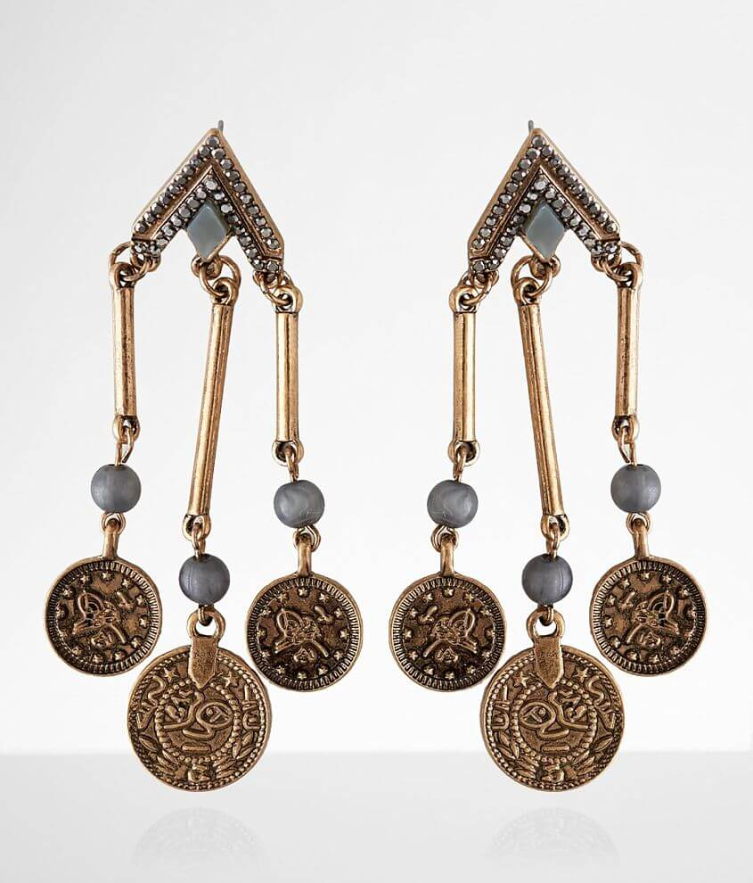 BKE Coin Statement Earring front view