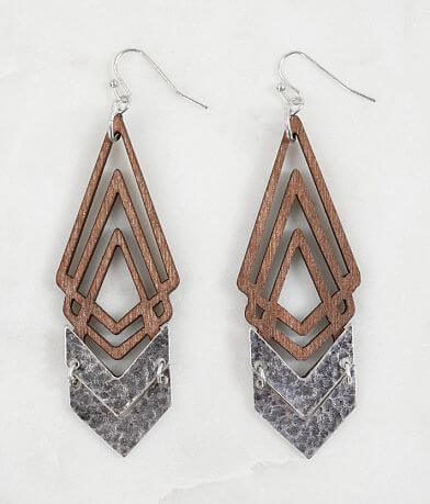 BKE Cut-Out Wood Earring