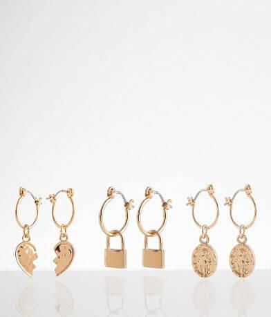 BKE 3 Pack Mini Hoop Earring Set