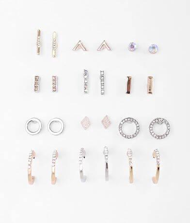 BKE Dainty Rhinestone Earring Set