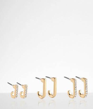 BKE 3 Pack 18k Gold Earring Set