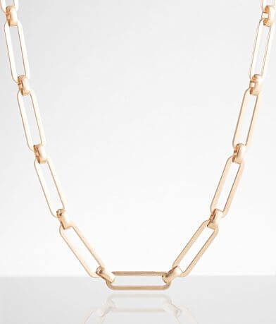 BKE Chunky Paperclip Necklace