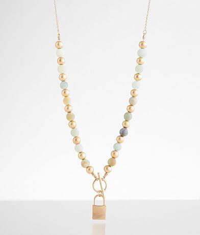 BKE Beaded Locket Necklace