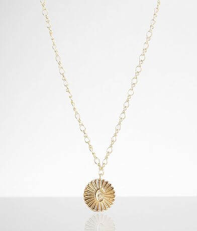 BKE 14k Gold Plated C Necklace