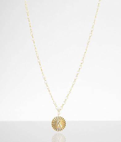BKE 14k Gold Plated K Necklace
